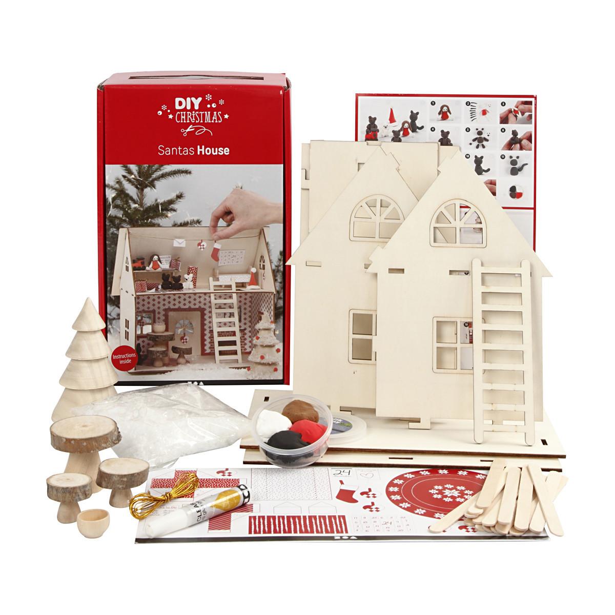 materialset für weihnachtsmannhaus 1 set  ritohobbyde