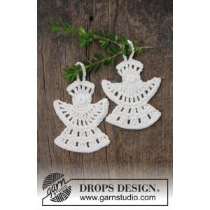 Frozen Angels by DROPS Design - Häkelmuster mit Kit Engel 10x8cm