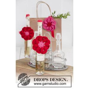 Festive Flowers by DROPS Design - Häkelmuster mit Kit Blume Ø 8cm