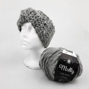 Crocheted Ear Warmer Headband by Rito Krea - Häkelmuster mit Kit Stirnband Ohrenwärmer Größen S-L