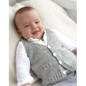 Junior by DROPS Design - Strickmuster mit Kit Baby-Weste Größen 4-9 Monate
