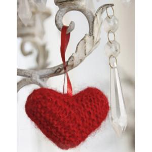 Sweet heart by DROPS Design - Strickmuster mit KitHerz für Weihnachten 5cm