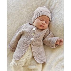 Sleep Tight by DROPS Design - Strickmuster mit Kit Baby-Strickjacke mit Raglan Muster Größen Neugeborene bis 9 Monate