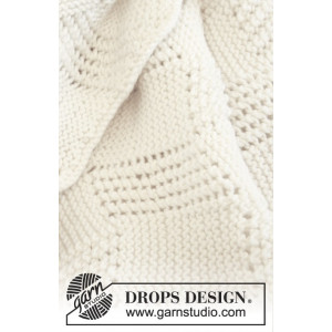 Baby Cloud by DROPS Design - Strickmuster mit Kit Baby-Decke 70x94cm