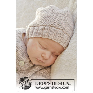 In my dreams by DROPS Design - Strickmuster mit Kit Baby-Mütze Größen 0-4 Monate