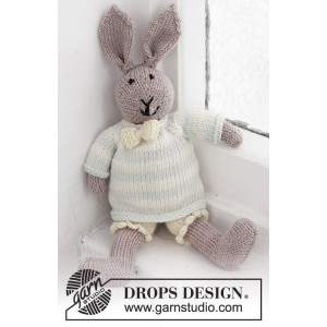 Mr. Bunny by DROPS Design - Strickmuster mit Kit Baby Hase