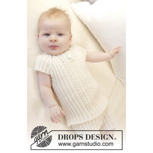 Simply Sweet Singlet by DROPS Design - Strickmuster mit Kit Baby-Unterwäsche Größen 0-4 Jahre