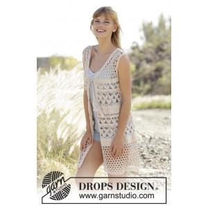 Summer Bliss Vest by DROPS Design - Vest Hækleopskrift str. S - XXXL
