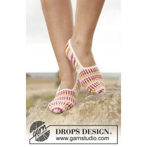 Tropical Steps by DROPS Design - Häkelmuster mit Kit Slippers Größen 35/37 - 41/43