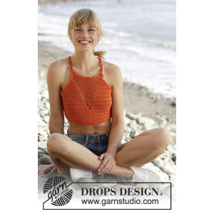Mandarina by DROPS Design - Häkelmuster mit Kit Top Größen S - XXXL