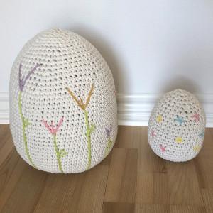 Easter Eggs by Rito Krea - Häkelmuster mit Kit Ostereier 18cm - 31cm