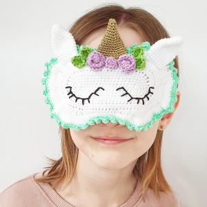 Einhorn-Schlafmaske by Rito Krea - Häkelmuster mit Kit Schlafmaske