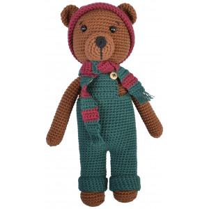 Bruno Teddy Bear by Rito Krea – Häkelmuster mit Kit Kuscheltier 24cm