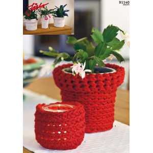 Hoooked DIY Häkelkit Blumentopf-Überzieher Cozy