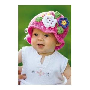 Järbo Sunshine - Häkelmuster mit Kit Baby-Mütze mit Blumen