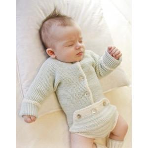 First Impression by DROPS Design - Strickmuster mit Kit Baby-Body Größen 0-4 Jahre