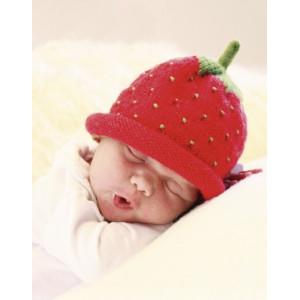 Sweet Strawberry by DROPS Design - Strickmuster mit Kit Baby-Mütze Größen 1 Monat - 4 Jahre