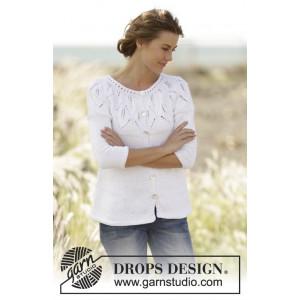 Summer Leaves Cardigan by DROPS Design - Strickmuster mit Kit Jacke Größen S - XXXL