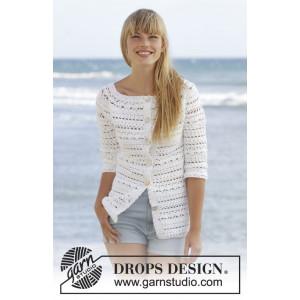 Seashore Bliss Cardigan by DROPS Design - Häckelmuster mit Kit Jacke Größen S - XXXL