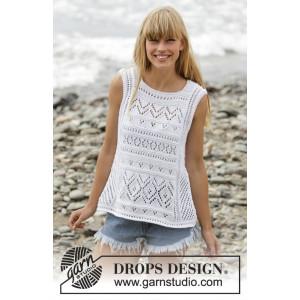 Erica Singlet by DROPS Design - Strickmuster mit Kit T-Shirt mit Spitzenmuster Größen S - XXXL