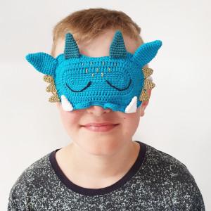 Drachen-Schlafmaske by Rito Krea - Häkelmuster mit Kit Schlafmaske 16x11cm