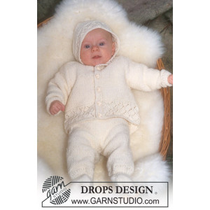 Welcome Home by DROPS Design - Strickmuster mit Kit Baby Coming Home Set Größen 1-18 Monate