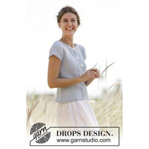 Charlotte Cardigan by DROPS Design - Strickmuster mit Kit kurzärmliger Cardigan mit Spitzenmuster Größen S - XXXL