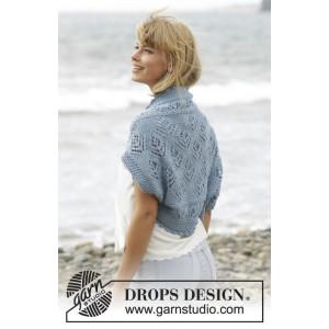 Beach Bolero by DROPS Design - Strickmuster mit Kit Bolero mit Spitzenmuster Größen S/M - XXXL
