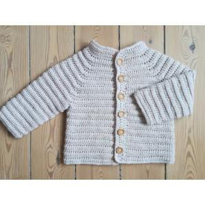 Die Oktober-Jacke by Rito Krea - Häkelmuster Babyjacke Größen 6 Monate - 4/5 Jahre