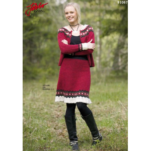 Ístex Strickmuster mit Kit Dress with Ruffles Pattern Größen 34 - 44