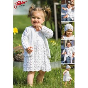 Järbo Strickmuster mit Kit Dress, Cardigan and Hat Set for Baby and Kids Pattern Größen 0/2 months - 6/8 years