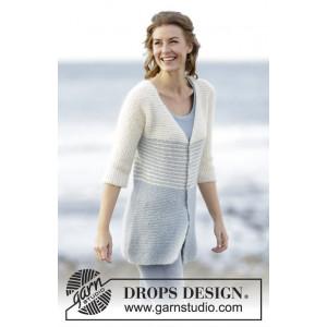 Irish Sea Cardigan by DROPS Design - Strickmuster mit Kit Jacke mit Streifenmuster Größen S - XXXL