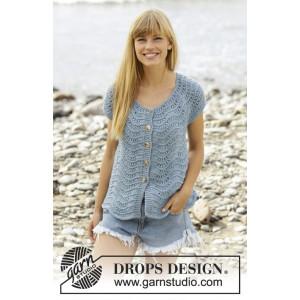 Shore Line Cardigan by DROPS Design - Strickmuster mit Kit Cardigan mit Wellenmuster Größen S - XXXL