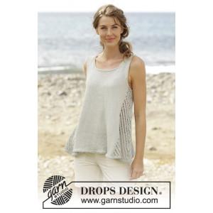 Venezia Top by DROPS Design - Strickmuster mit Kit A-Linie Top mit Spitzenmuster Größen S - XXXL