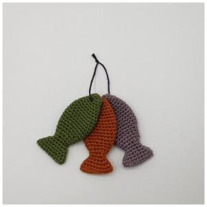 3 kleine Fische - Liederkoffer by Rito Krea - Häkelmuster mit Kit Fische