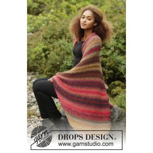 Autumn Lights by DROPS Design - Strickmuster mit Kit Decke mit Streifenmuster 140x90cm