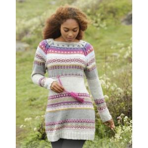 Highland Heather by DROPS Design - Strickmuster mit Kit Kleid mit buntem Muster Größen S - XXXL