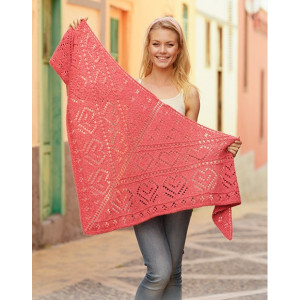Heart Me by DROPS Design - Strickmuster mit Kit Tuch 182x91cm