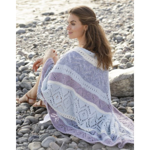 Lilac shawl by DROPS Design – Strickmuster mit Kit Tuch 104x208cm