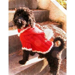 Santa Dog by DROPS Design - Strickmuster mit Kit Hundepullover für Weihnachten Größen XS - M