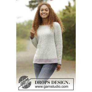 Purple Camilla by DROPS Design - Strickmuster mit Kit Pullover mit Raglan-Muster Größen S - XXXL
