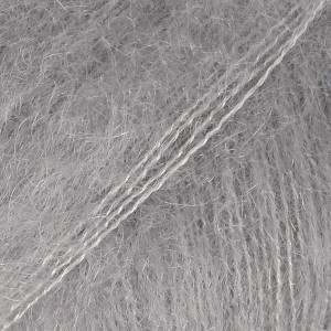 Drops Kid-Silk Garn einfarbig 10 Grau