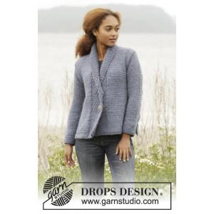 Winter Hues by DROPS Design - Strickmuster mit Kit Jacke großer Perlstich Größen S - XXXL