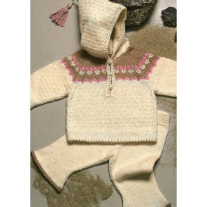Mayflower Hættetrøje og Bukser til baby - Babysæt Strikkeopskrift str. 0/3 - 18 mdr