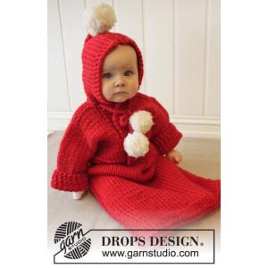 The First Noel by DROPS Design - Strickmuster mit Kit Baby-Fußsack Größen 4-9 Monate