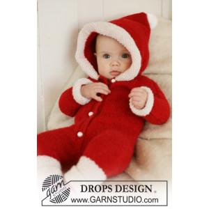 My First Christmas by DROPS Design - Strickmuster mit Kit Baby Weihnachts-Einteiler mit Kapuze Größen 4-9 Monate