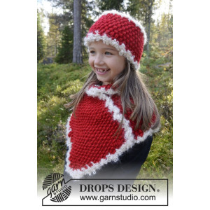 Santa's Little Helper by DROPS Design - Strickmuster mit Kit Stirnband und Umlegetuch 3-12 Jahre