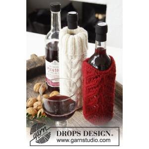 Pour on the Charm! by DROPS Design - Strickmuster mit Kit Weihnachten Flaschen-Kühler 0,75l - 2 Stk