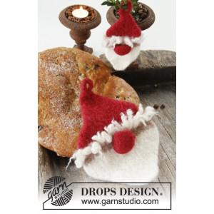 Ho Ho Ho! by DROPS Design - Muster mit Kit gefilzte Topflappen Weihnachten 13x7 - 23x17cm