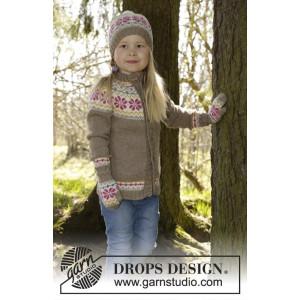 Prairie Fairy by DROPS Design - Strickmuster mit Kit Jacke mit rundem Yoke und nordischem Muster Größen 3-12 Jahre